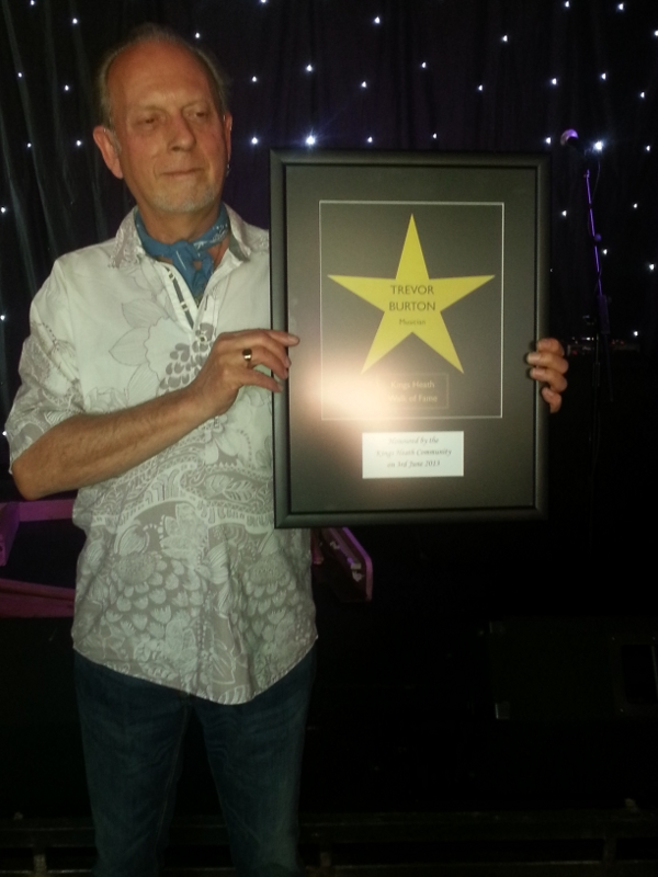 Trevor Burton receives the King's Heath Walk of Fame